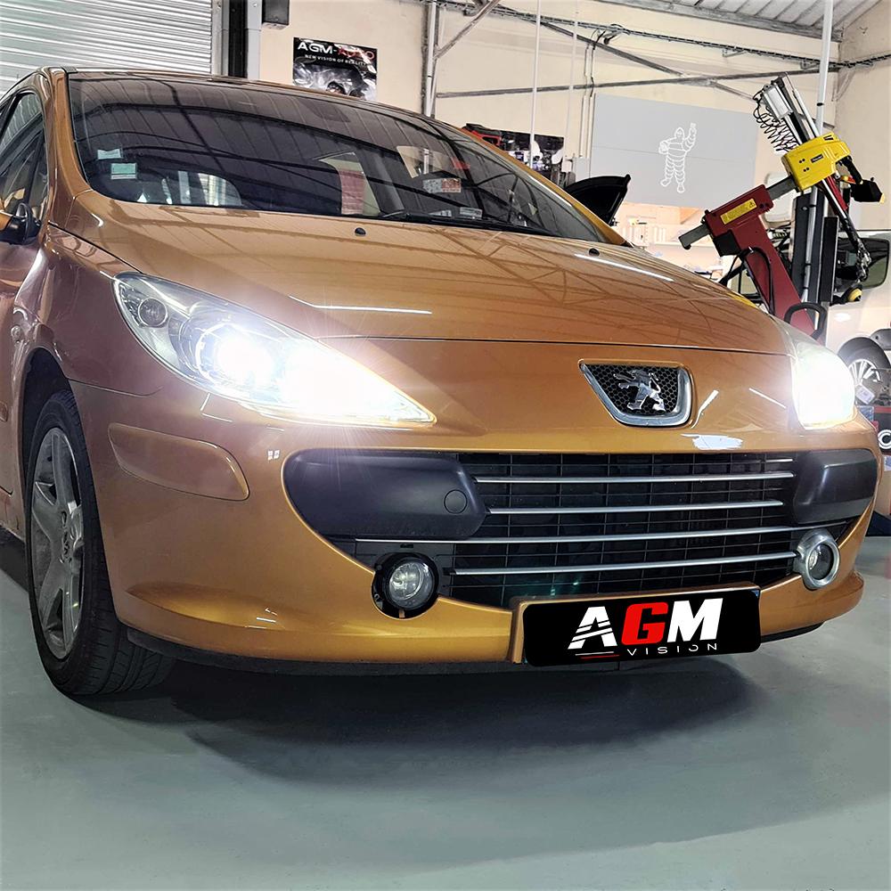 Pack LED (Premium) Feux de Route Peugeot 307 (avec ampoule H1)