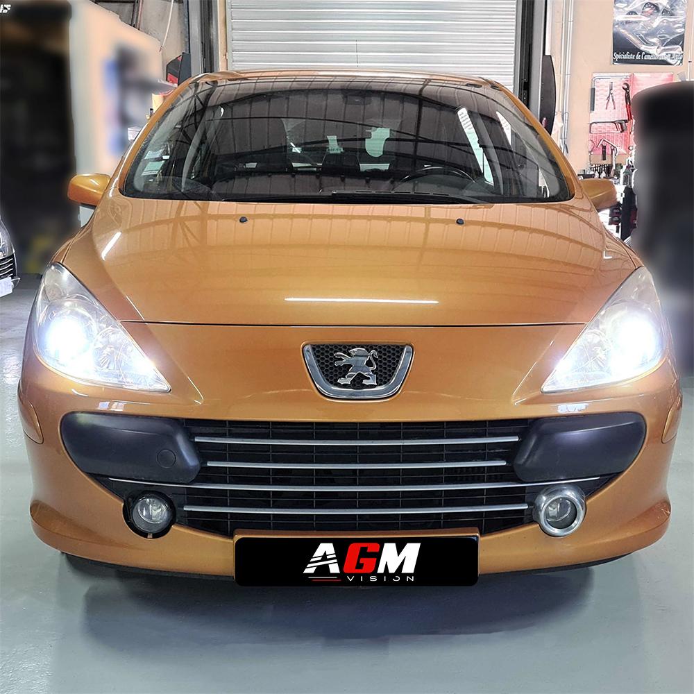 PACK LED (Premium) Feux de croisement Peugeot 307  (Avec Ampoule D1S)