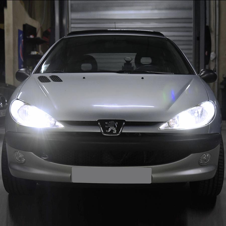 PACK LED (Premium) Feux de Route Peugeot 206 (Ampoule H7)