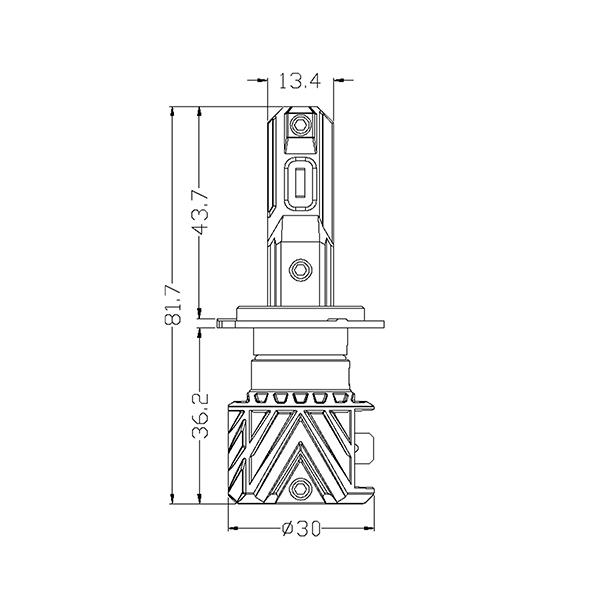 Kit Ampoules LED H7 SMART