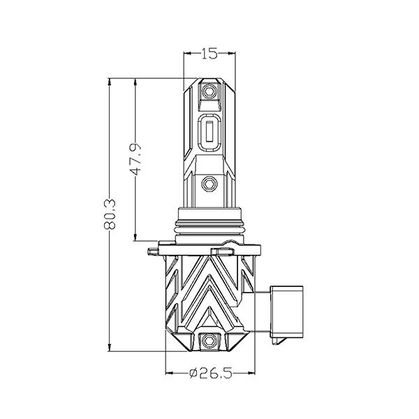 Kit Ampoules LED HB4 9006 SMART
