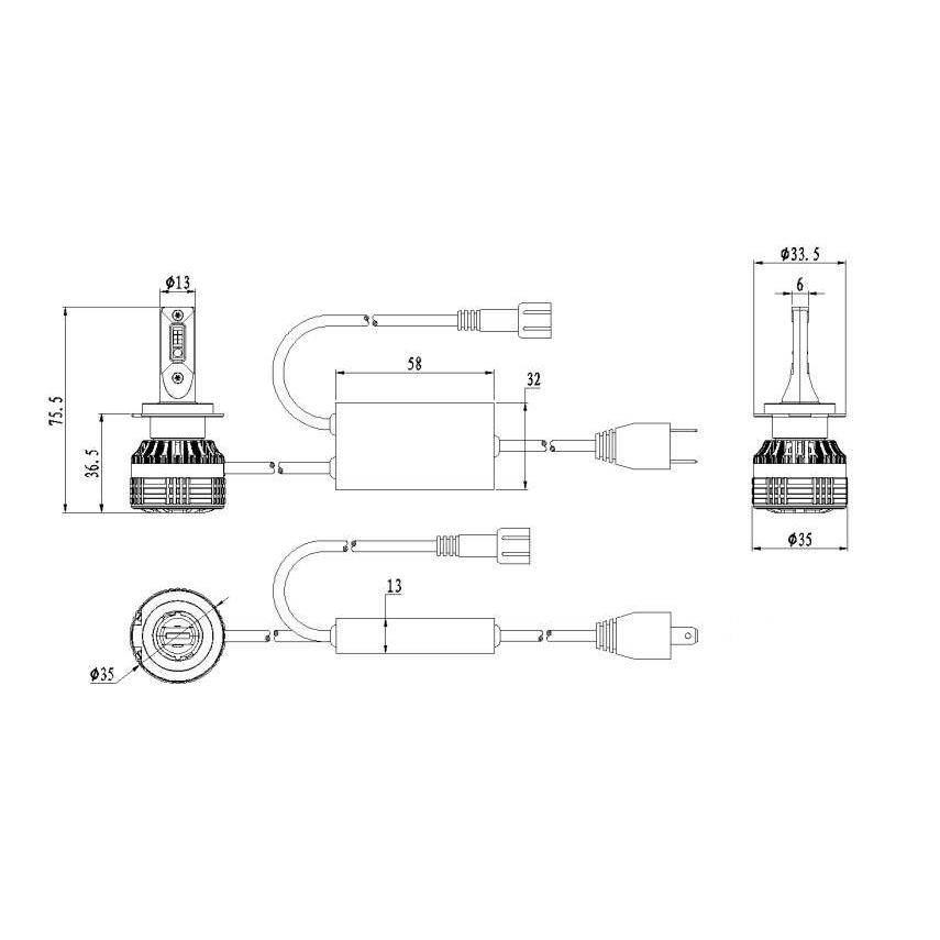 Kit Ampoules LED H7 DEMON RGB