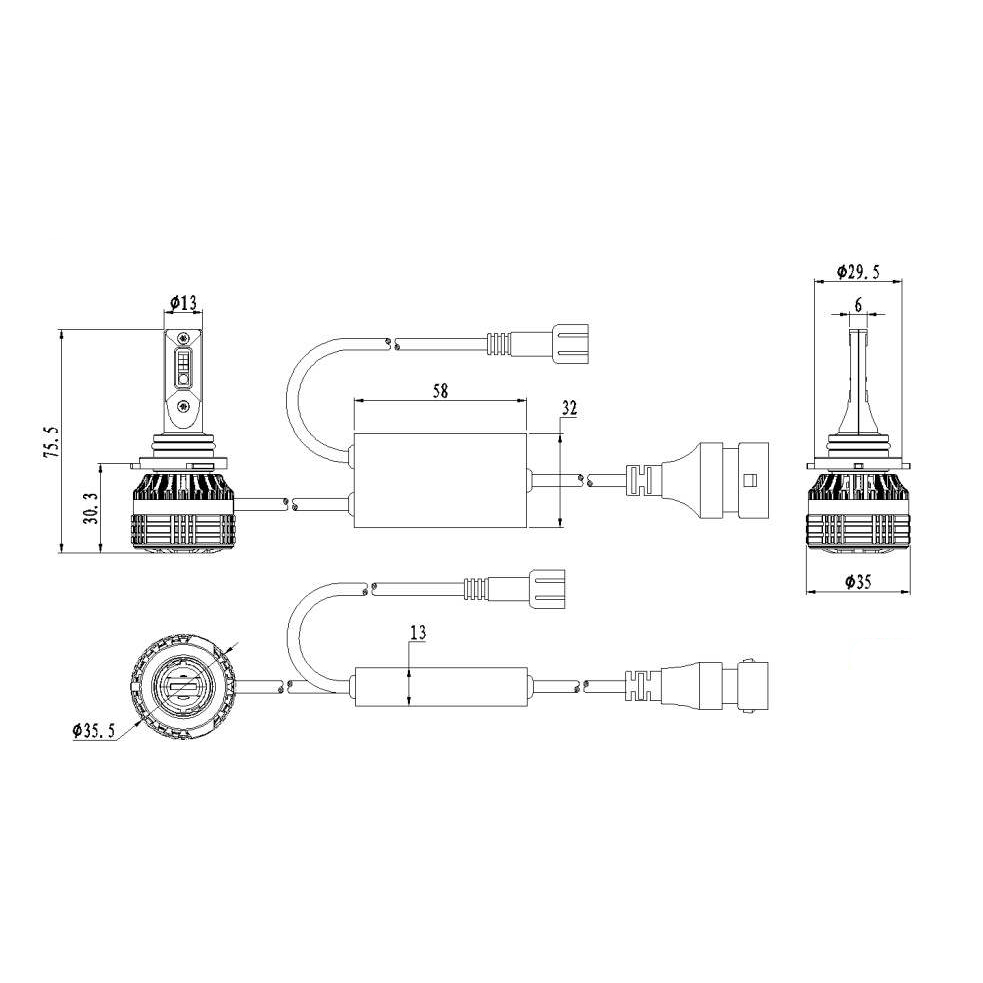 Kit Ampoules LED H10 DEMON RGB