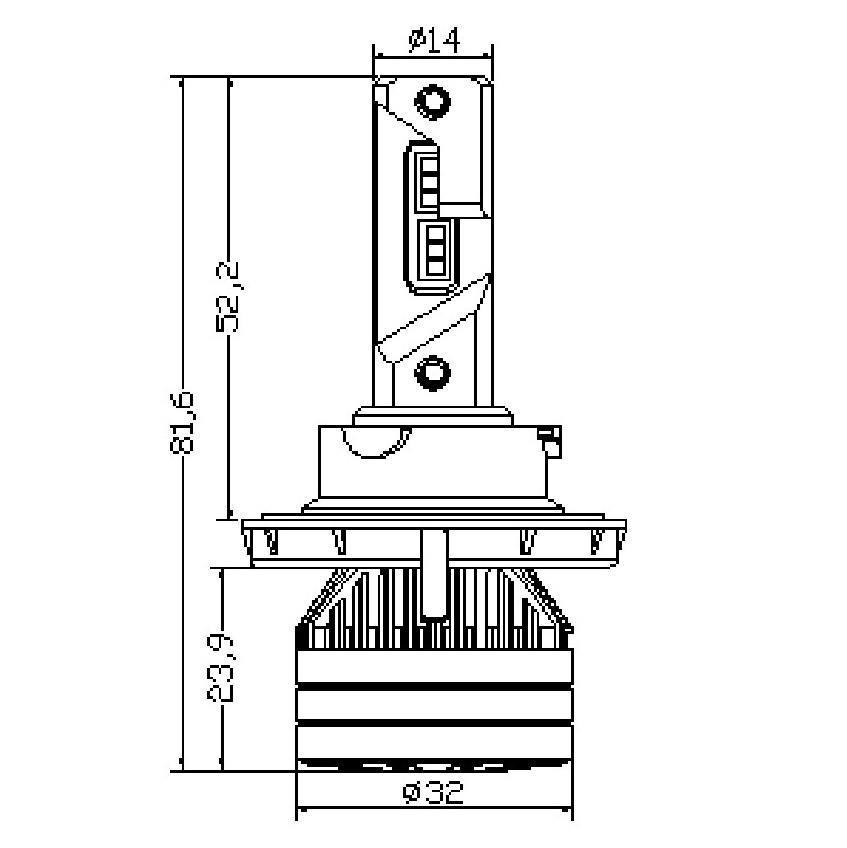 Kit Ampoules LED H13 TITANIUM XS