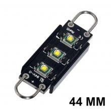Navette-Crochet LED-44mm-Black S (Blanc)
