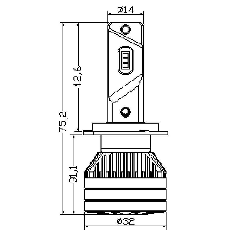 Ampoule LED H7 TITANIUM XS