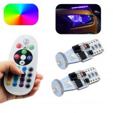 Pack 2 Ampoules LED T10-W5W MULTICOLORE (RGB)
