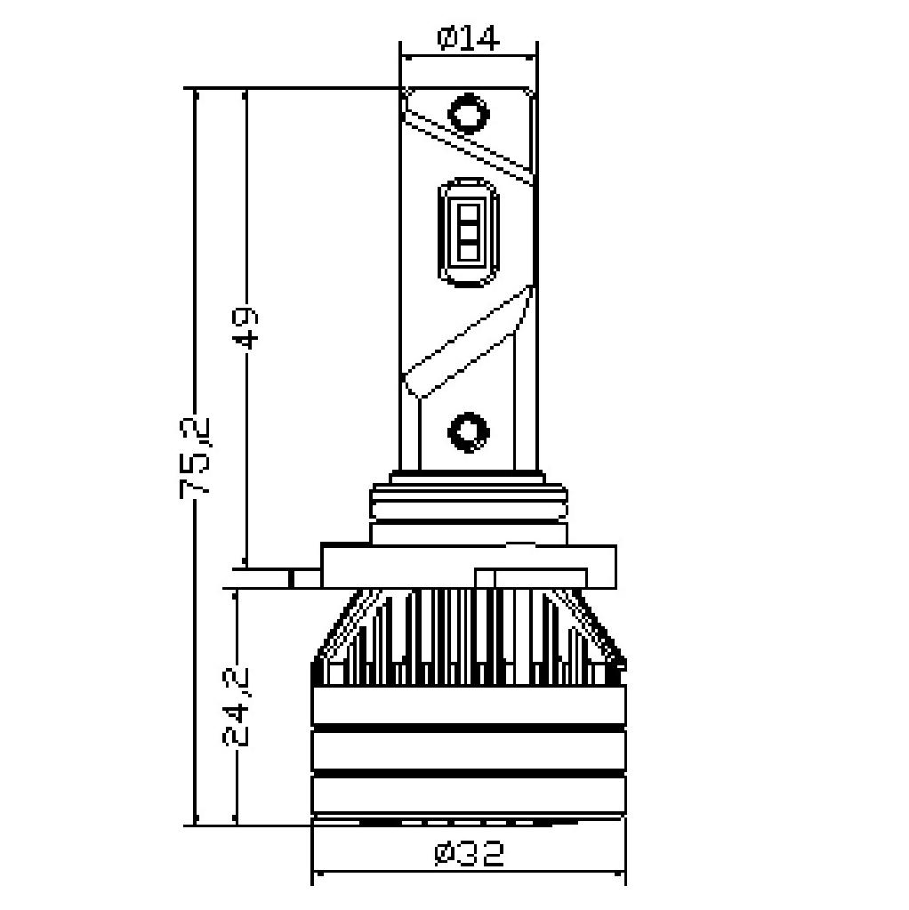 Ampoule LED HB3/H10 TITANIUM XS