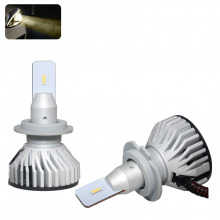 Kit Ampoules LED H7 TITANIUM Blanc chaud (4000k)