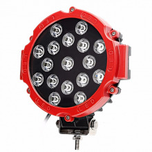 PHARE ADDITIONNEL LED WORK ROND RED 50W