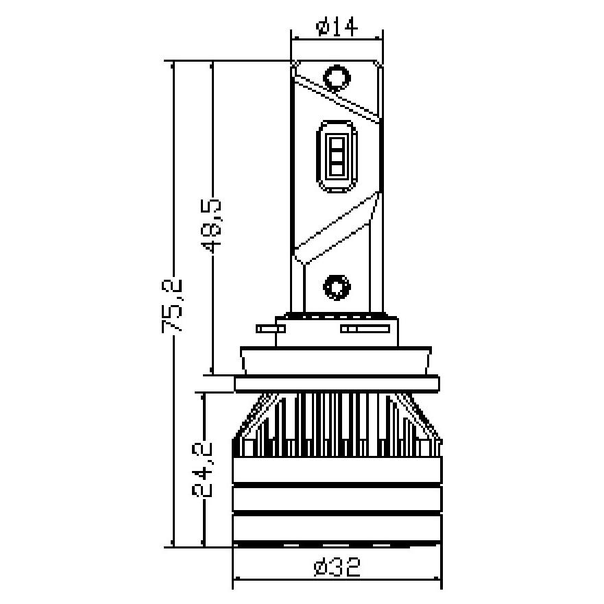 Kit Ampoules LED H8 TITANIUM XS