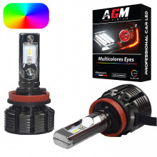 Kit Ampoules LED H16 MULTICOLORE